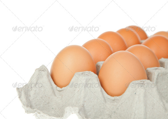 eggs in the package - Stock Photo - Images