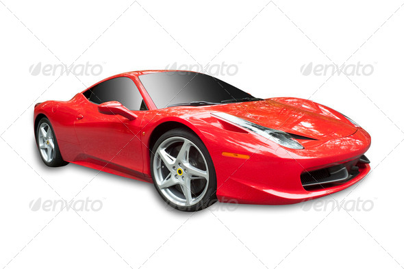 PhotoDune Red Sportscar 2458257