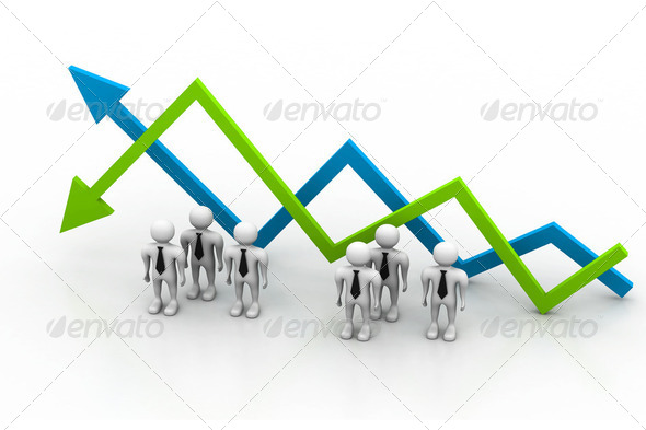 Business chart. (Success or fall concept) - Stock Photo - Images