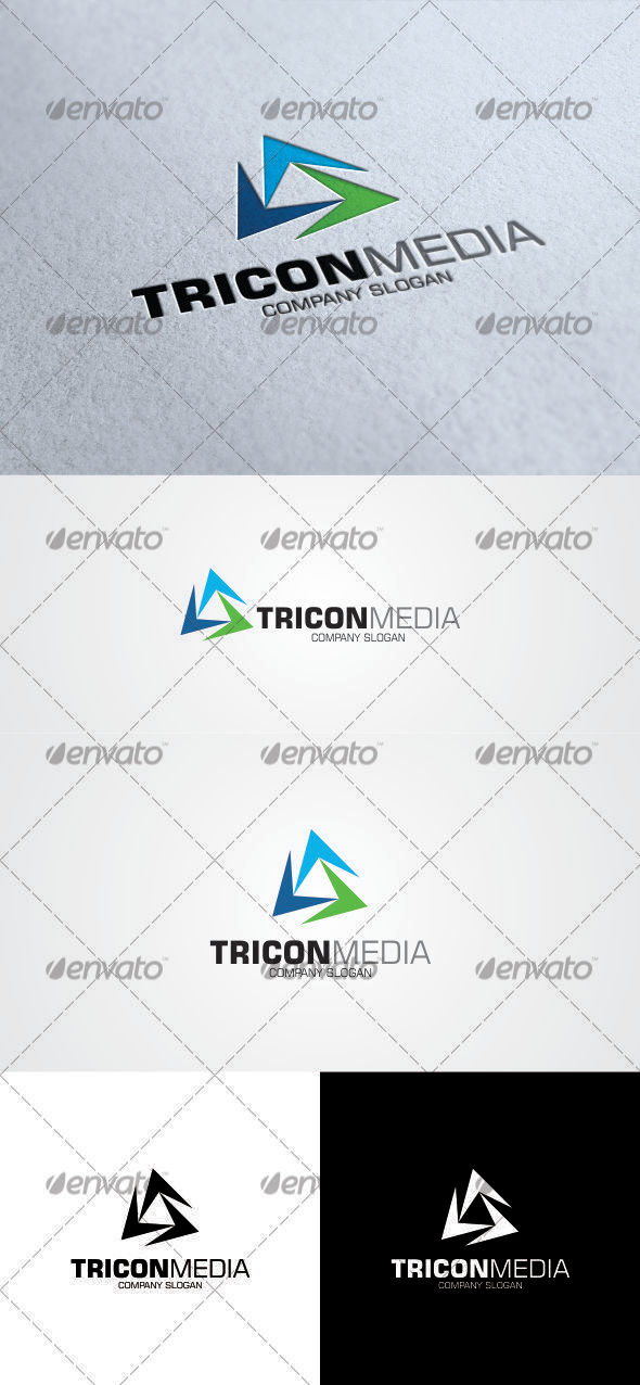 GraphicRiver Tricon Media Logo 3354042