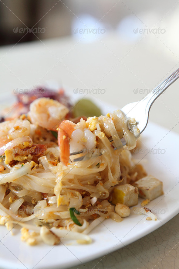Thai food padthai - Stock Photo - Images
