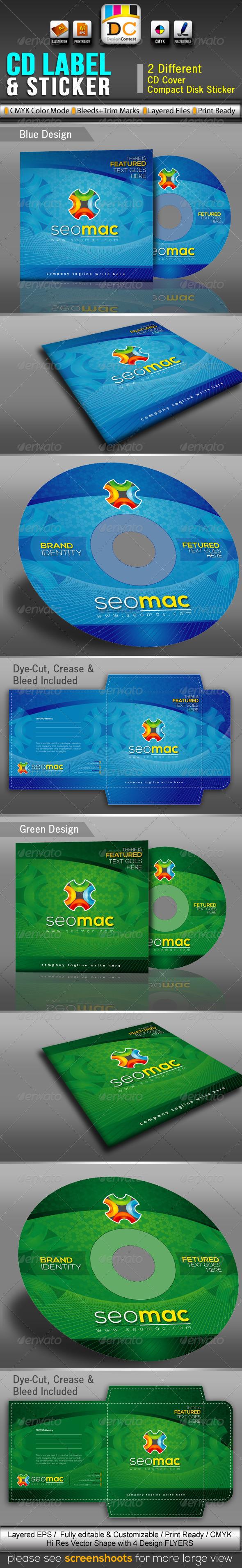 GraphicRiver SeoMac CD Sleeve Label & Sticker 3354136