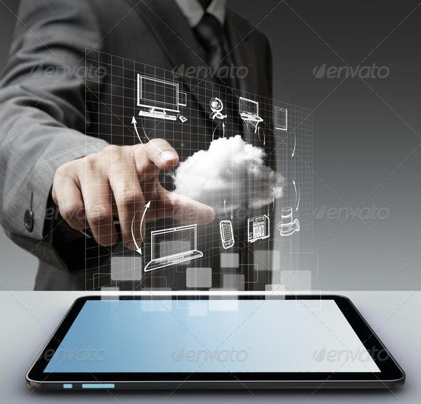 PhotoDune virtual cloud network concept 2472720