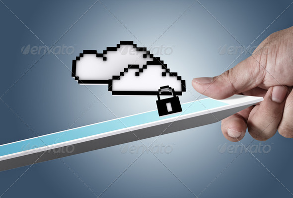 cloud network sign as concept - Stock Photo - Images