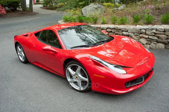 PhotoDune Red Sportscar 2473789