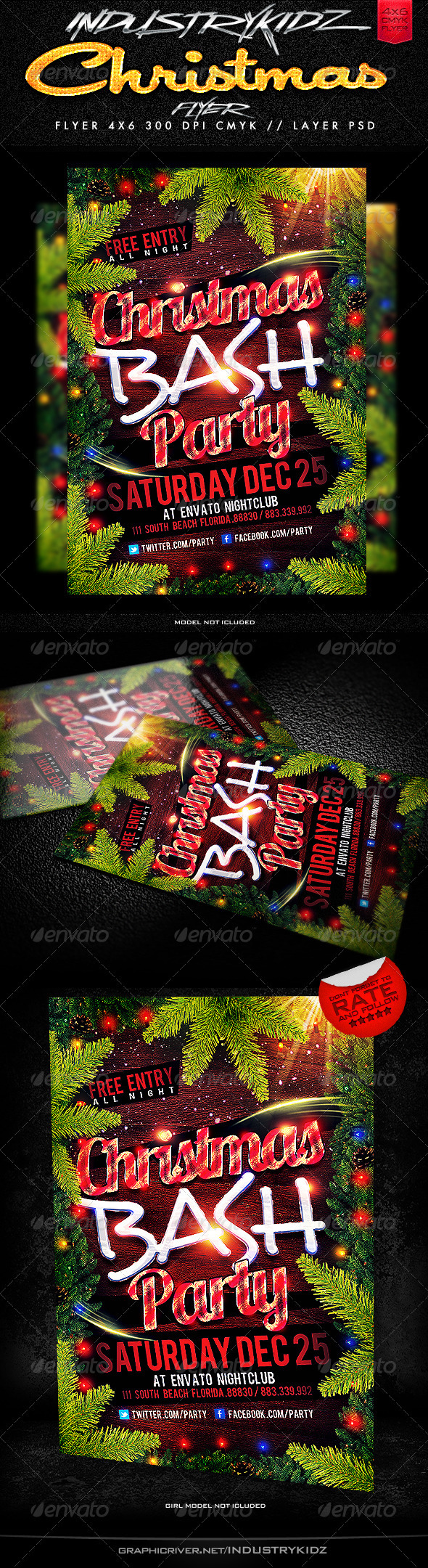 Christmas Party Flyer Templates - Holidays Events