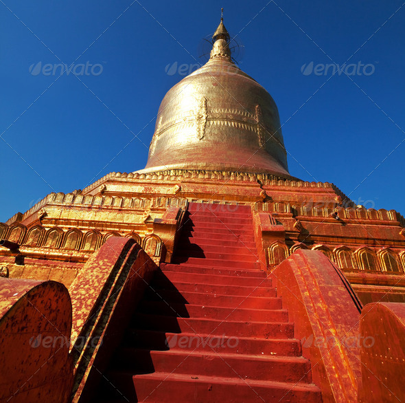 Temple in Myanmar - Stock Photo - Images