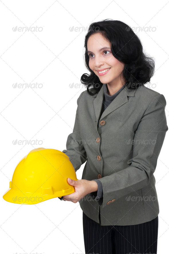 Give Yellow Helmet - Stock Photo - Images