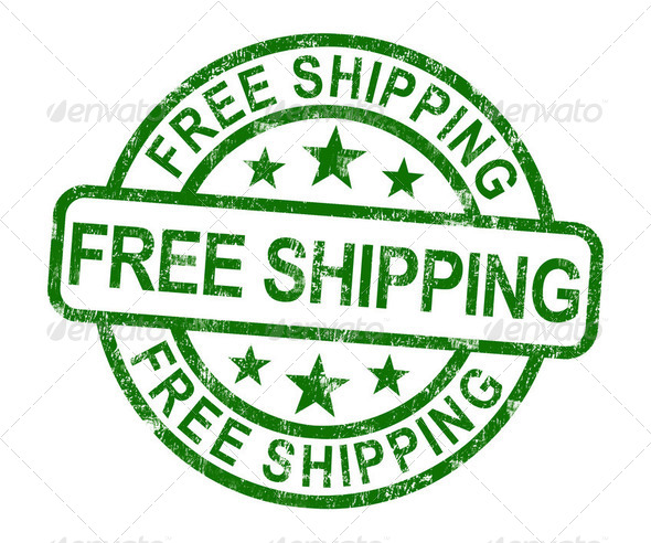 PhotoDune Free Shipping Stamp Showing No Charge Or Gratis To Deliver 2478399