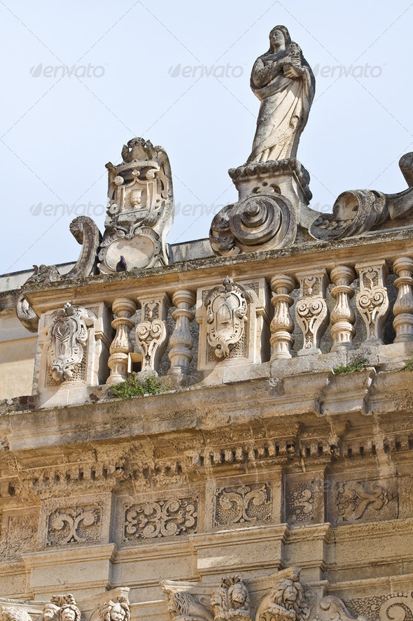 Cathedral of Lecce. Puglia. Italy. - Stock Photo - Images
