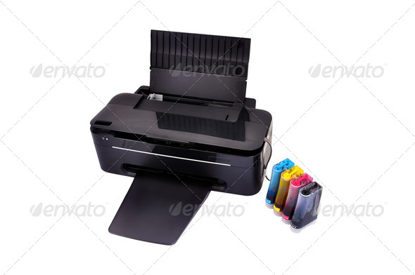 printer and ciss - Stock Photo - Images