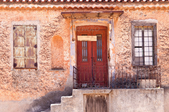 Building on Samos - Stock Photo - Images