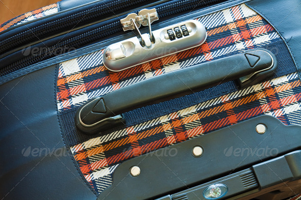 Details of travel suitcase - Stock Photo - Images
