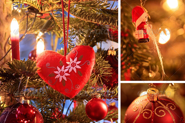 Collage with Christmas decoration - Stock Photo - Images