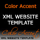 Color Accent XML Website Template - ActiveDen Item for Sale