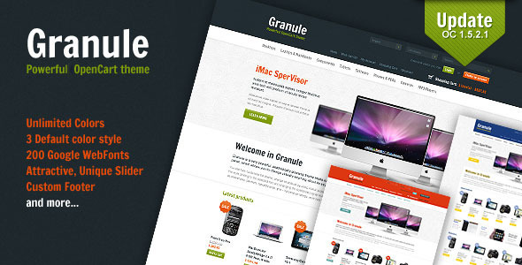 ThemeForest Granule powerful OpenCart theme 866968