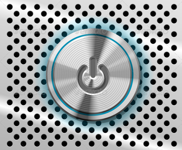 Vector Mac Power Button - Stock Photo - Images