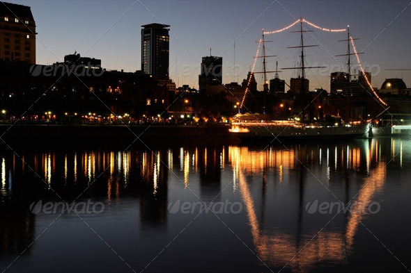 Old harbor, Buenos Aires - Stock Photo - Images