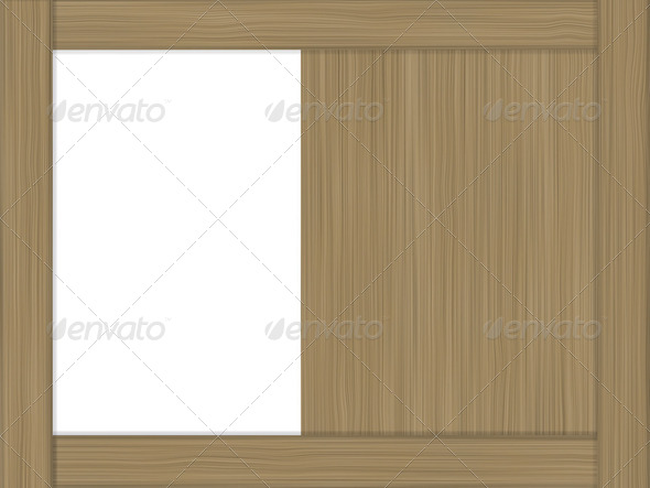 open wood showcase as background - Stock Photo - Images