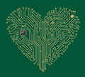 Motherboard heart - PhotoDune Item for Sale