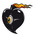 Black heart with fire flames - PhotoDune Item for Sale