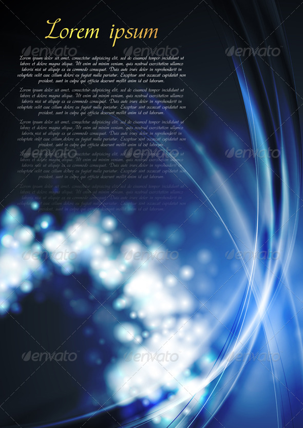 GraphicRiver Bright blue wavy abstraction 3355011