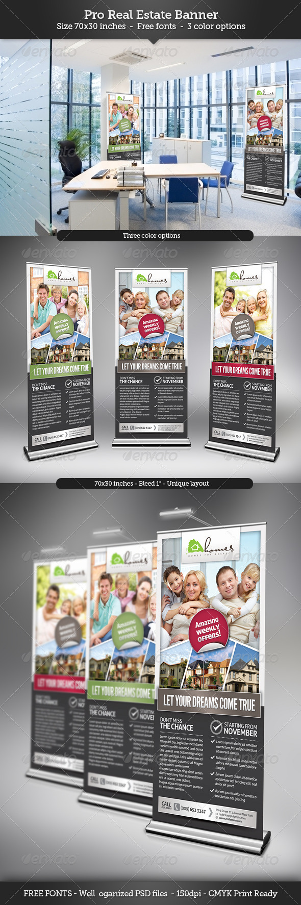 GraphicRiver Real Estate Banner Template 3355076