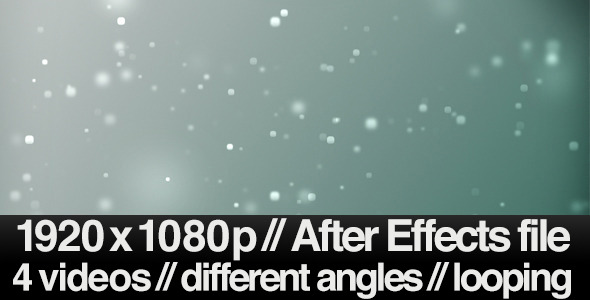 4 Bokeh Particles Floating Away Backgrounds LOOP