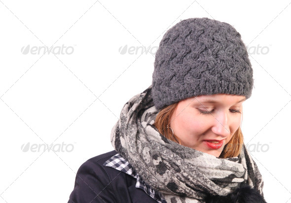 Winter portrait - Stock Photo - Images