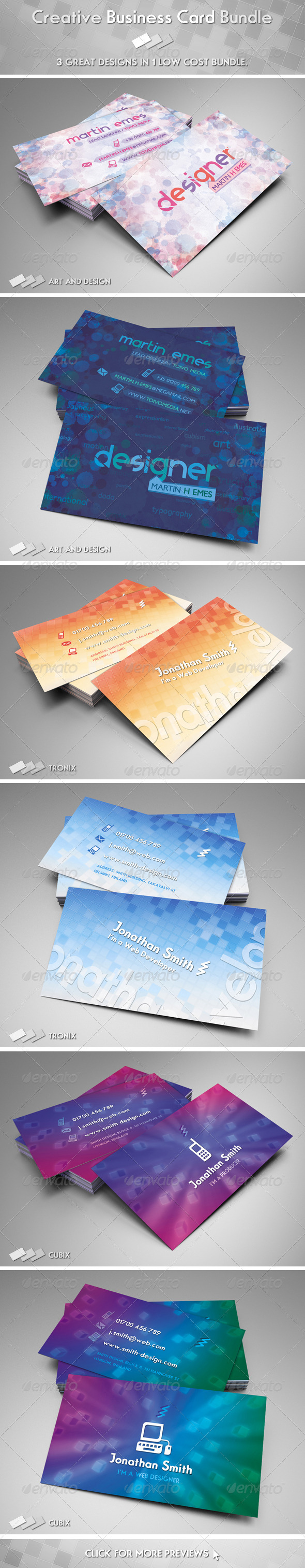 GraphicRiver Creative Business Card Bundle 3355376