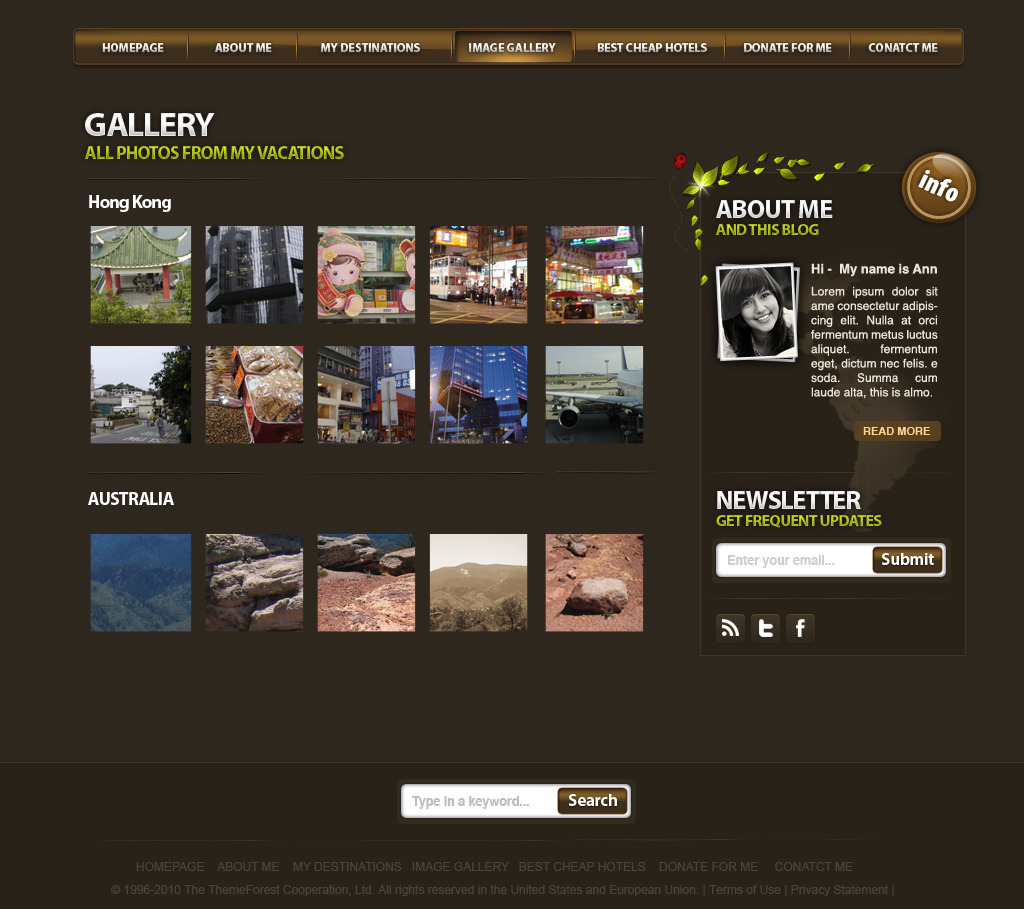 World Traveler - Clean and ordered gallery...