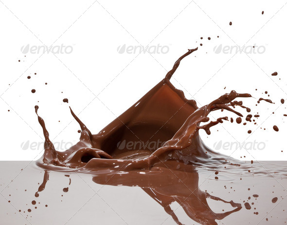 chocolate splash - Stock Photo - Images