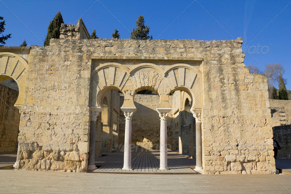 Upper Basilic Building. Medina Azahara. - Stock Photo - Images