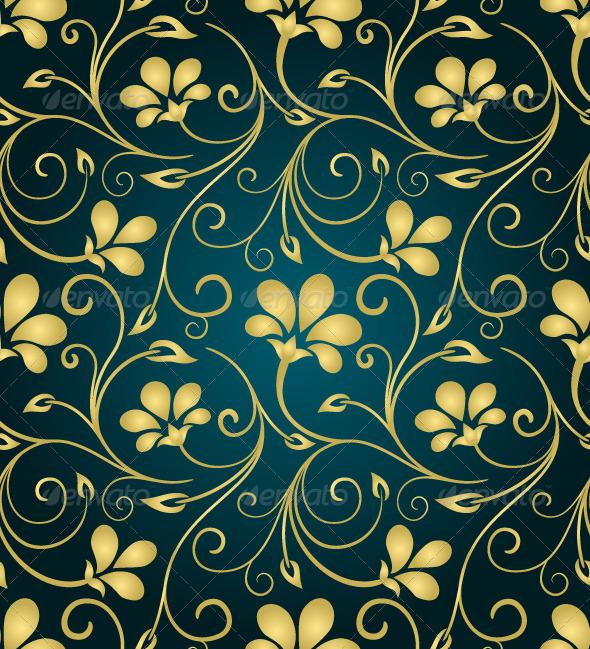 GraphicRiver Golden Swirls Pattern 3355809