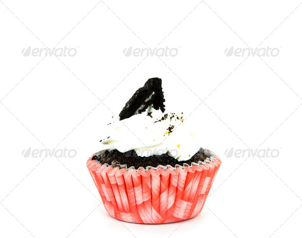 Cupcake isolated on white background - Stock Photo - Images