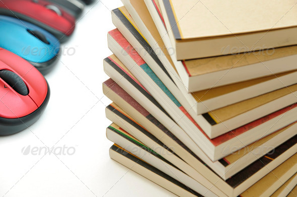 Books and mouses  - Stock Photo - Images
