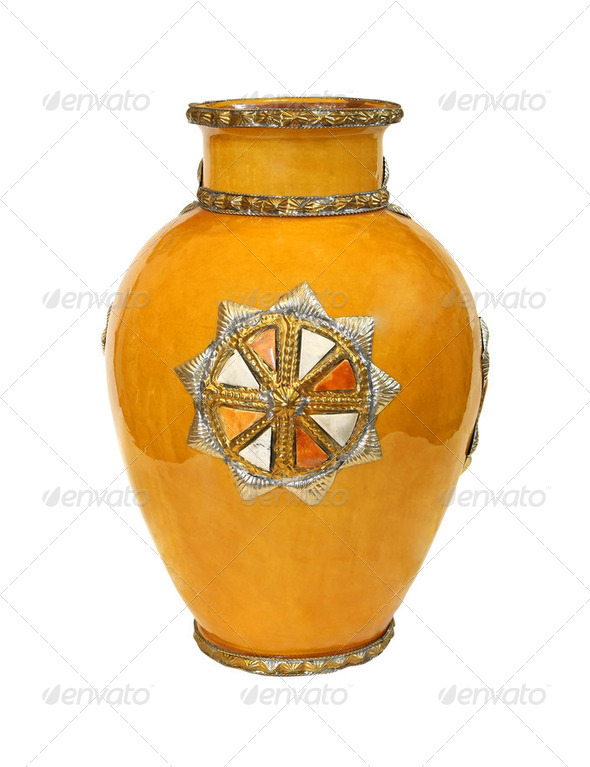 Old yellow vase - Stock Photo - Images