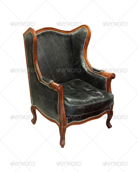 Old leather chair - Stock Photo - Images