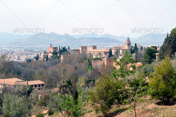 View of the Alhambra - Stock Photo - Images