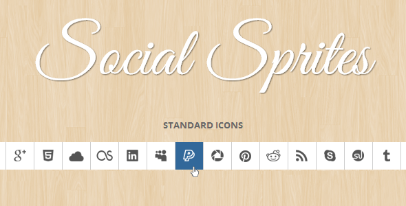 CodeCanyon Social Sprites Icons 3356755
