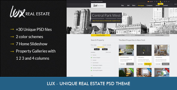 ThemeForest Luxury Real Estate PSD Theme 3356759