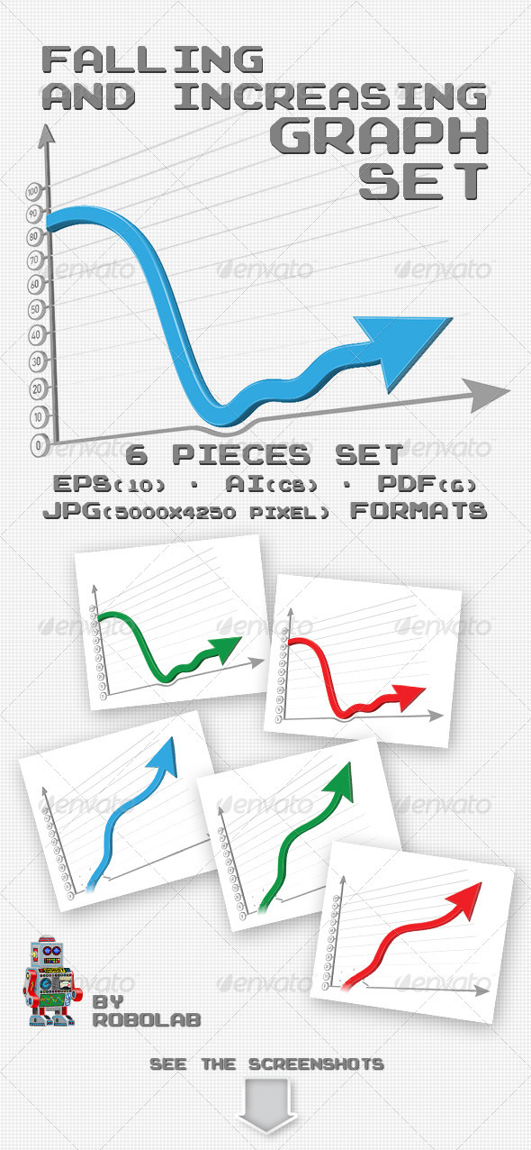 GraphicRiver Falling And Increasing Graphs 3356876
