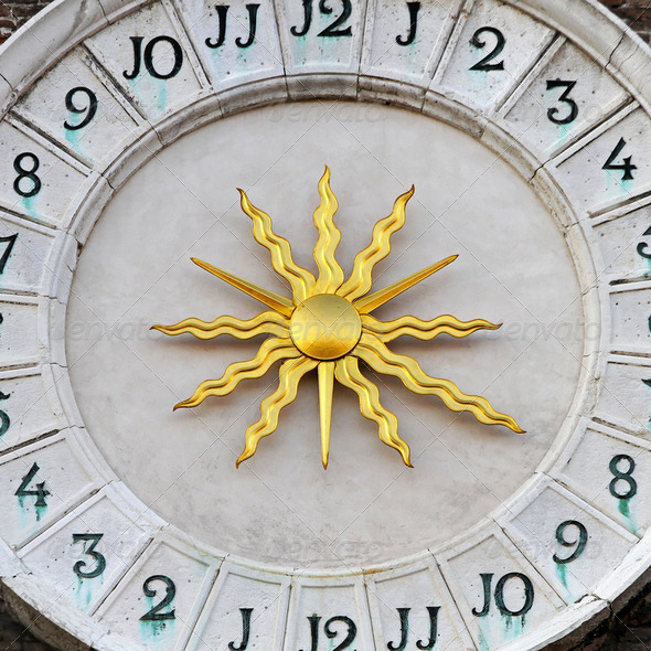 Sun dial - Stock Photo - Images