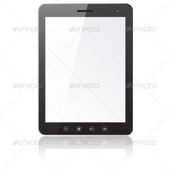 Tablet PC computer with blank screen - Stock Photo - Images