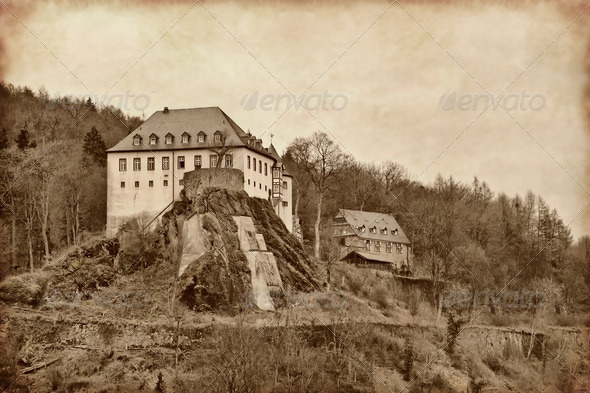 2 castle was Bilstein  - Stock Photo - Images