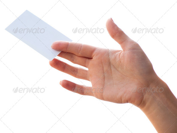 empty card in a hand - Stock Photo - Images