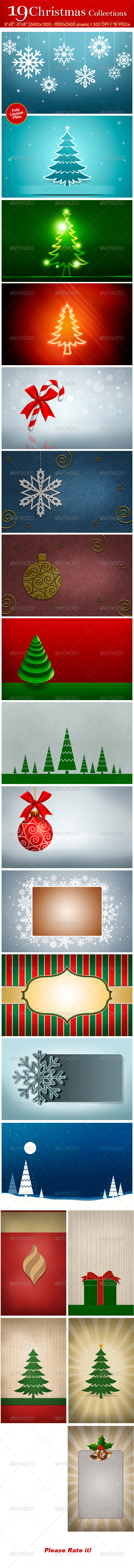 GraphicRiver 19 Christmas Collections 3356924
