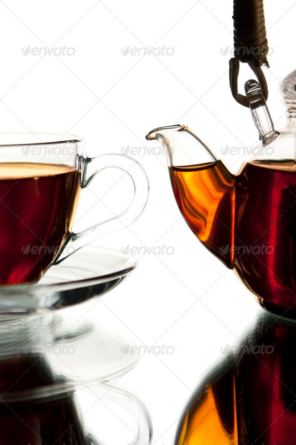 Teapot and cup - Stock Photo - Images
