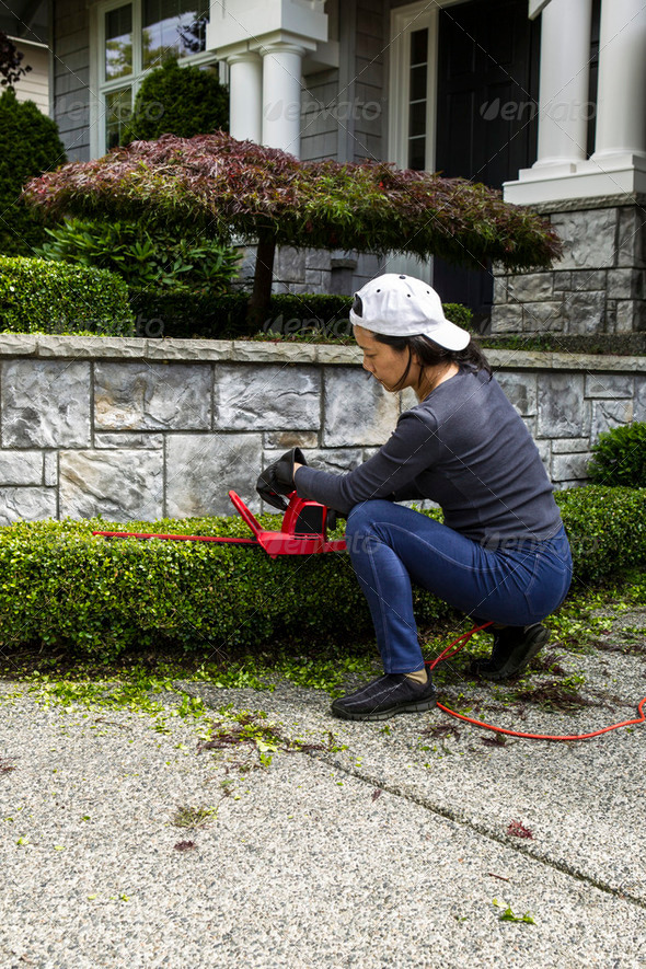 Yard Work at Home - Stock Photo - Images