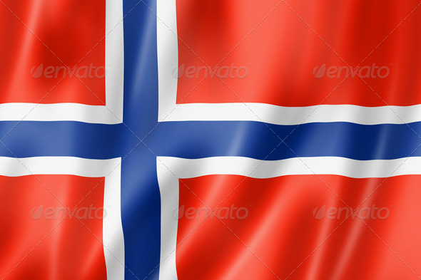 Norwegian flag - Stock Photo - Images